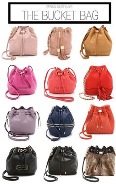 Spring must have: bucket bags #Shopbop #MakeTheOutfit