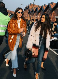 Aurora Sansone in a Mate coat and Chiara Totire in a Mate coat and Dior shoes
