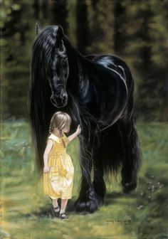 her Black Beauty.....Art -Lesley Harrison