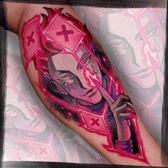 Sick Tattoo, Inkbox Tattoo, Manga Tattoo, Anime Tattoos, Tattoo Ideas Tumblr, Watercolor Tattoo Artists, Tattoo Colors, Hunter Tattoo, Back Tattoos For Guys
