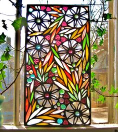 Wonderful stained glass. Need to test the stained glass tools my sister got me.  Maybe I will try this first
