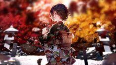 Anime Original Kimono Girl Wallpaper 3840x2160 Wallpaper, Wallpaper Backgrounds, Desktop Wallpapers, Cherry Blossom Flowers, Yellow Flowers, Puzzles, Kirara, Autumn Scenery, Korean Art