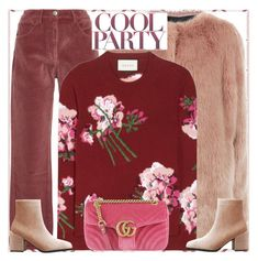 """""""Style's Tip:How to wear a Floral Sweater?"""" by marymary91 ❤ liked on Polyvore featuring Pinko, 3x1 and Gucci"""