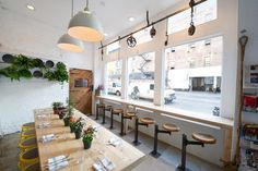 The Butcher's Daughter - The Butcher's Daughter     Heather Tienery, of Pulqueria and Apotheke, recently opened this chic Nolita juice bar and vegetarian cafe on Kenmare Street. Chef Joya Carlton, formerly of Buvette, is in charge of the food menu.