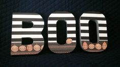 BOO by Ribbonnthreads on Etsy