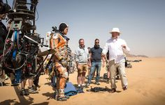 Matt Damon and Ridley Scott, who took over directing The Martian when Drew Goddard left the project. Courtesy of Twentieth Century Fox.