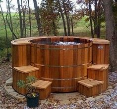 build your own hot tub!...love this!! I would just need a little money...and lots of help! -Home Decor