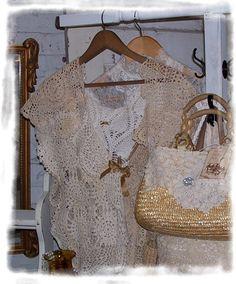 vintage crochet doily vest ladies x large. $45.00, via Etsy.
