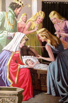 Sleeping Beauty by Eric Winter Eric Winter, Briar Rose, Sleeping Beauty Art, Ladybird Books, Disney, Fairytale Art, Childhood Memories, Illustrators, Fantasy Art
