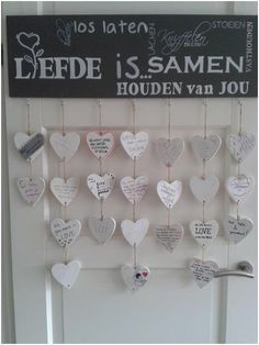 In opdracht gemaakt Diy Presents, Diy Party, Craft Gifts, Sweet Home, Diy Crafts, Holiday Decor, Baby, Wedding, Inspiration