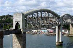 The Royal Albert Bridge and river