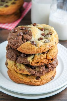 Chocolate Chip Brownie Swirl Cookies (aka Brookies)