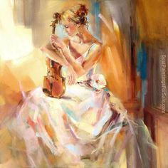 Anna Razumovskaya Dancing With a Violin 2 painting for sale, this painting is available as handmade reproduction. Shop for Anna Razumovskaya Dancing With a Violin 2 painting and frame at a discount of off. Cross Paintings, Paintings For Sale, Oil Paintings, Anna Razumovskaya, Art Studies, Beautiful Paintings, Oeuvre D'art, Female Art, Painting & Drawing