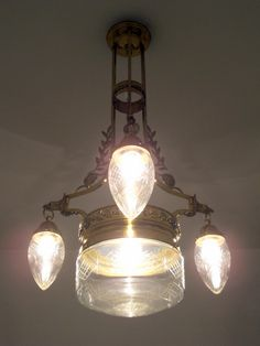 Jugendstil (Art Nouveau) light fitting.