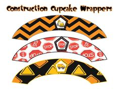 Construction Cupcake Wrappers INSTANT by ATimeToRememberDPK