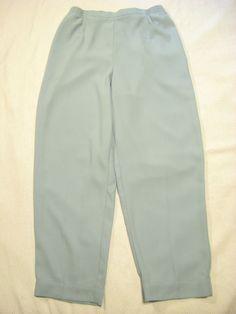 964215ad8e KORET Large Pants Womens Light Blue Elastic Waist Size L Dress Slacks L  27.5 EUC