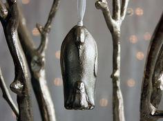 Emperor Penguin Ornament With Hidden Compartment and Love Inscription