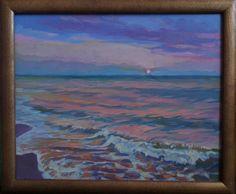 """Saatchi Art Artist Anastasia Yaroshevich; Painting, """"Sunset on the Sea"""" #art"""