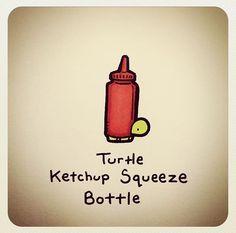 Cute Turtle Drawings, Turtle Sketch, Animal Sketches, Animal Drawings, Sheldon The Tiny Dinosaur, Tortoise Drawing, Kawaii Turtle, Emoji Drawings, Cartoon Turtle