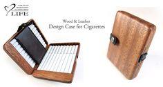 Image result for wood cigarette case