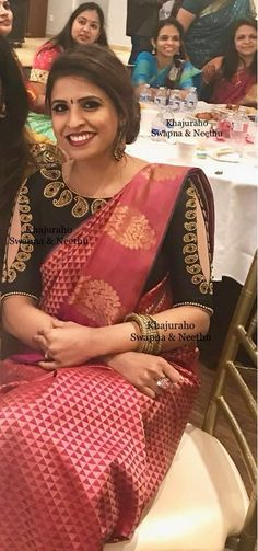 Gorgeous blouse designs for saree Head over to the internet site to see more on . Simple Blouse Designs, Stylish Blouse Design, Sari Blouse Designs, Saree Blouse Patterns, Designer Blouse Patterns, Bridal Blouse Designs, Blouse Models, Sarees, Lehenga