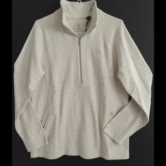 Tommy Bahama ½ Zip Pullover NWT Tommy Bahama ½ Zip Pullover, Color-Fresco Heather (oatmeal), size M.  Nice soft cotton (98% cotton 2% spandex) Great for cool Spring nights! Tommy Bahama Tops