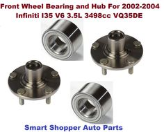 Single Front Left or Right Wheel Hub And Bearing fit 2002 2003 2004 2005 2006 NISSAN ALTIMA For 2.5L only