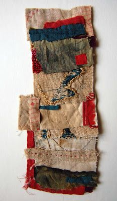 Mandy Paftullo - A small collage using scraps left over from a bigger on-going quilt project.