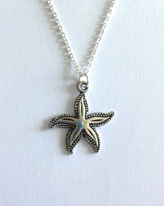 Creatures of the Sea Tibetan Charm Pendant Necklace by EvenstarPrettyThings on Etsy Organza Gift Bags, Starfish, Silver Plate, Plating, Creatures, Charmed, Pendant Necklace, Sea, Pearls