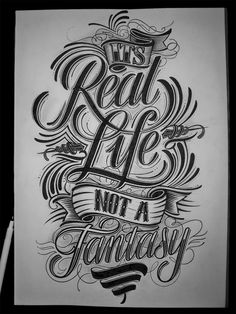 Its Real Life not a Fantasy by Mateusz Witczak - #typography #type