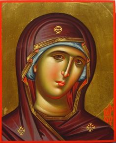 Daniel Neculae is a Romanian iconographer living in Luxembourg. He has a BA in Byzantine iconography from Bucharest University. Byzantine Icons, Byzantine Art, Religious Icons, Religious Art, Madonna, Mark The Evangelist, Good Shepard, Religious Paintings, Blessed Mother Mary