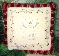 Hand Embroidery Pattern - Let It Snow - Crabapple Hill Studio