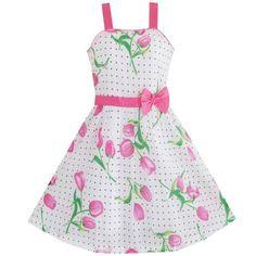 Sunny Fashion Little Girls' Dress Pink Flower Green Leaves Black Dot 6 Sunny Fashion http://www.amazon.com/dp/B00960XSE0/ref=cm_sw_r_pi_dp_hGfuub0SR75NV