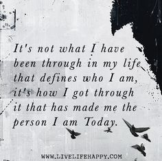 It's Not What I Have Been Through - Live Life Quotes, Love Life Quotes, Live Life Happy