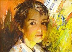 Portrait of the son Oil on carton