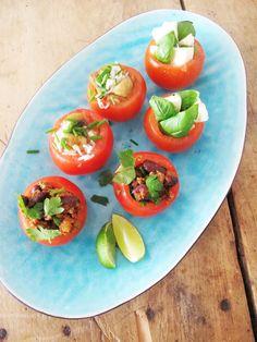 Stuffed tomatoes by Aniko Lehtinen