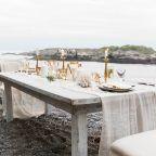 Farm table beach wedding reception table | KAngell Photography
