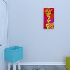 Canvas of the Giraffe by Decoludik on Etsy Nursery Wall Art, Wall Art Decor, Wall Art Prints, Nursery Decor, Canvas Prints, Giraffe Art, Kids Room Art, Kids Prints, Cotton Canvas