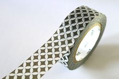 Petal Circle Star Washi Tape GREY 15mm Japanese MT by PrettyTape, $4.00