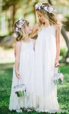 Ivory Halter Boho Flower Girl Dress Long Gilr Pageant Dress Girls Red Shoes Girls White Shoes From Bigear, $50.26| Dhgate.Com