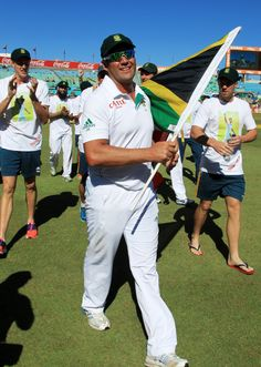Jacques' last test match for South Africa, where he finished with style by scoring another hundred. Jacques Kallis takes a lap of honour, South Africa v India, 2nd Test, Durban, 4th day, December 29, 2013 ©Associated Press