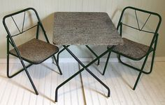 Vintage Industrial Table & Chairs Matching Set  by DivineOrders, $65.00