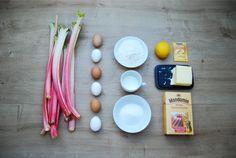 ingredientes rhabarberkuchen pastel de ruibarbo