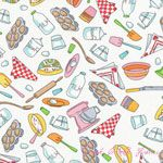 Timeless Treasures Baking Bunnies Cooking Utensils White [TT-9989-White] - $7.95 : Pink Chalk Fabrics is your online source for modern quilting cottons and sewing patterns., Cloth, Pattern + Tool for Modern Sewists