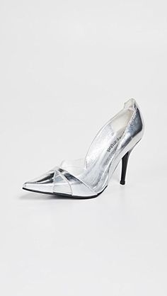 Luxury 2 Point Toe Pumps Pointed Toe Pumps, Stiletto Heels, World Of Fashion, Fashion Online, Metallic Leather, Jeffrey Campbell, Luxury Branding, Style Guides, Designer Shoes