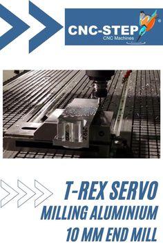Testing a special 10 mm end mill for aluminium on the T-Rex with servo motors. #servo #milling #aluminium #millingmachine #endmill Economic Efficiency, Cnc Maschine, Machining Process, Numerical Control, Cnc Software, Hall Flooring, Cnc Milling Machine, End Mill, Vacuum Pump