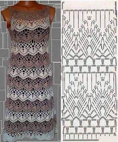 Patrón de Vestido Calado a Crochet