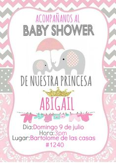 37 ideas baby shower girl invitaciones babyshower for 2019 Tarjetas Baby Shower Niña, Baby Shower Invitaciones, Baby Shower Prizes, Baby Shower Games, Baby Elefante, Baby Shower Table Centerpieces, Baby Shawer, Baby Boy Shower, New Baby Products