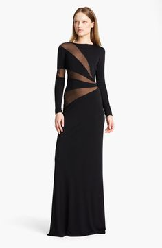 LOVE. Emilio Pucci Georgette Inset Jersey Gown