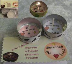 Teelicht-Botschaft - Du bereicherst mein Leben  von ღKreawusel-Designღ auf DaWanda.com